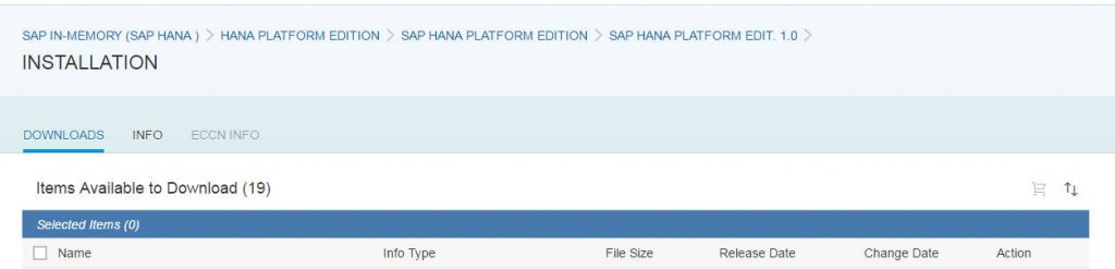 Installation for SAP HANA DB SPS11