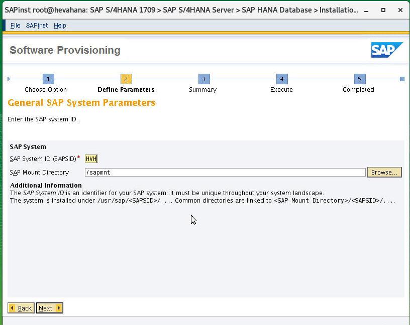 Installation for SAP S/4 HANA 1709 – SAP S/4 HANA